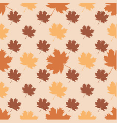 Seamless pattern with autumn maple leaves vector