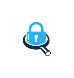 Search security logo icon design vector
