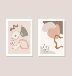 set autumn artistic greeting cards invitations vector image