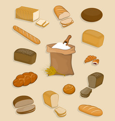 set of bakery and confectionery on a white vector image