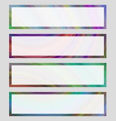 Set of colorful banner frames vector