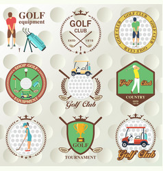 Set of golf labels badges vector