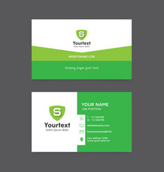 simple business card template vector image