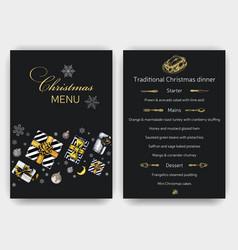 sketch christmas menu holiday vector image