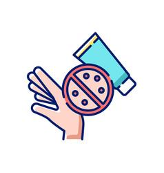 Skin rash cream rgb color icon vector