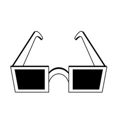 Square frame sunglasses icon image vector