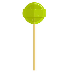 Sweet round lollipop candy on stick on vector