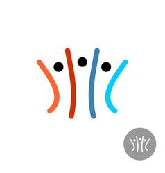 Teamwork community people logo vector