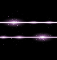 two lines with lights and sparks purple color vector image