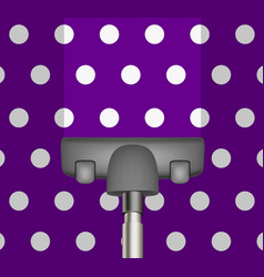 vacuum cleaner drains purple carpet vector image