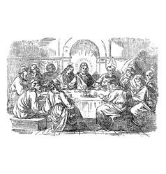 Vintage drawing biblical story jesus vector