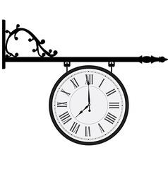 Vintage street clock vector image