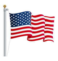 Waving united states of america flag uk flag vector