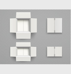 white cardboard box mock up top view vector image