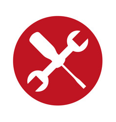 wrench and screwdriver mechanic tools icon vector image