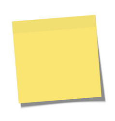 yellow paper sticky note glued to surface vector image