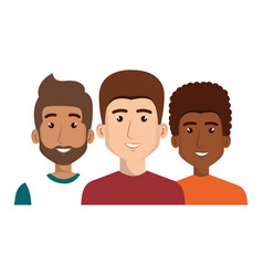 Young people avatars group vector
