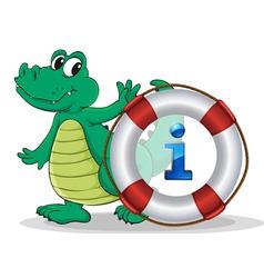Crocodile Information Kiosk Sign vector image vector image