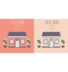 cute cozy cafe invite for a coffee vector image vector image