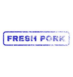 fresh pork rubber stamp vector image vector image