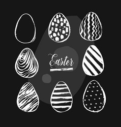 hand drawn abstract creative easter brush vector image