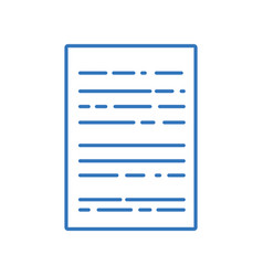 Silhouette business document to finance vector