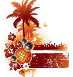tropical party vector image vector image