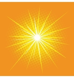 bright star with rays pop art retro background vector image vector image