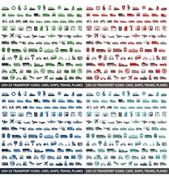 480 Transport icons vector image