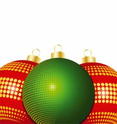 Christmas bauble close up vector image vector image