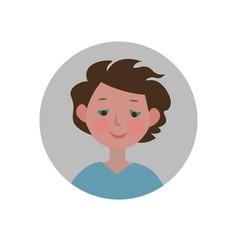 Embarrassed emoticon shy expression icon vector