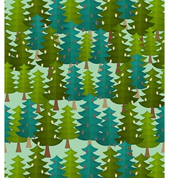 forest seamless pattern Fir forest Christmas tree vector image