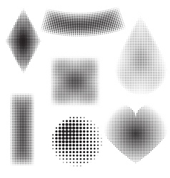 halftone objects vector image vector image