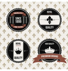 vintage royal labels vector image vector image