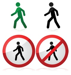 Walking sign vector image vector image