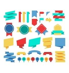 ribbons and labels flat set vector image vector image
