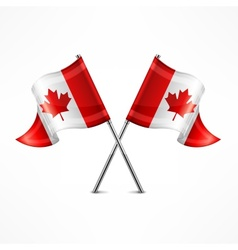 Two Canadian flag vector image