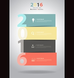 2016 New Year layout template design vector image