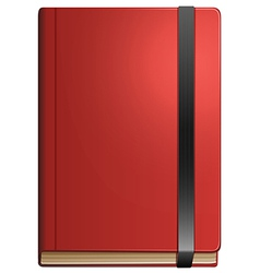 A topview of a notebook vector image