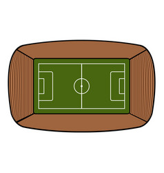 Aerial view of a soccer stadium vector