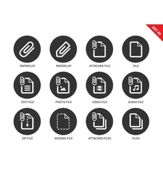Attached file icons on white background vector