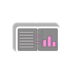 Bar graph statistic report in vector