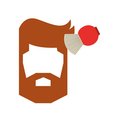 Barbershop brush with male hair vector