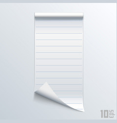 Bent piece of paper notebook vector