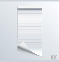 Bent piece paper notebook vector