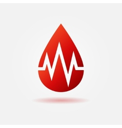 Blood drop red icon vector image