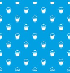 bucket pattern seamless blue vector image