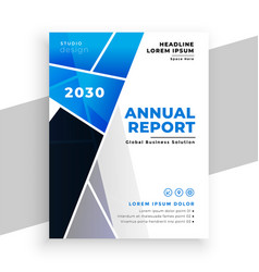 Business annual report flyer geometric template vector