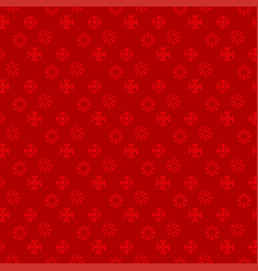 Chrismtas pattern of snow flakes red background vector