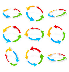 colorful circular arrows vector image